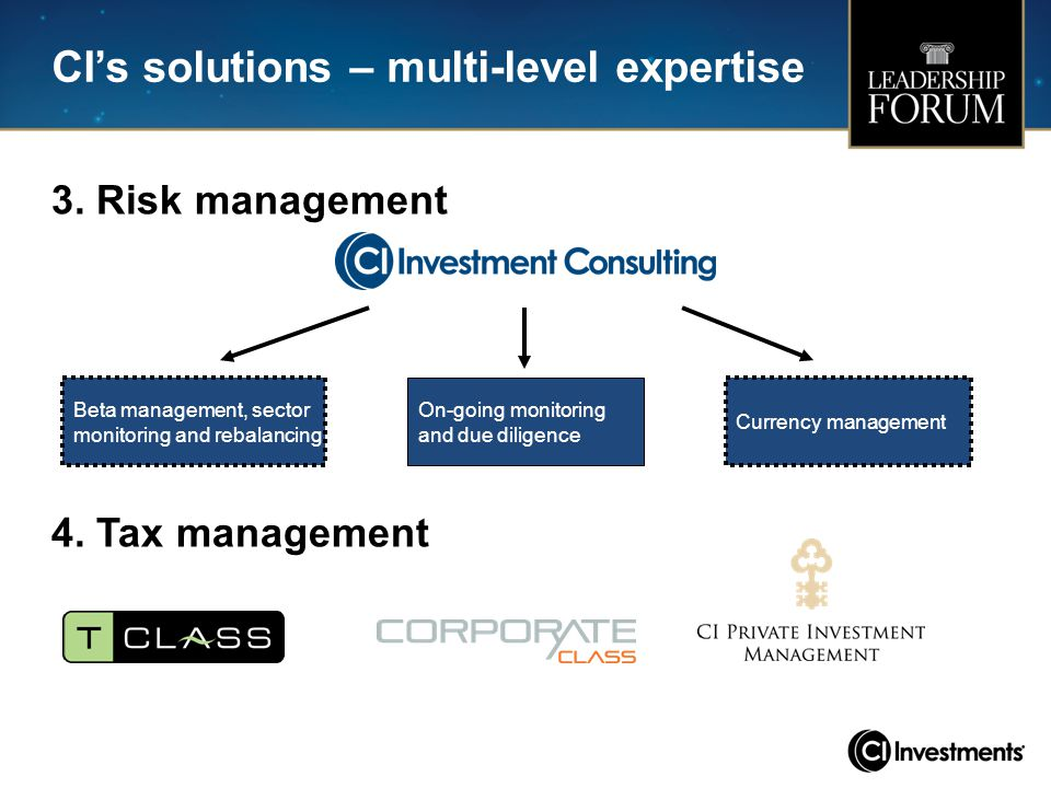 CI's solutions – multi-level expertise