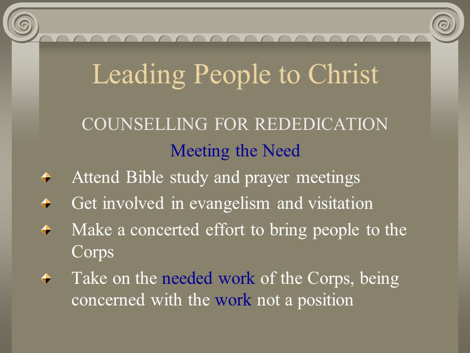 Leading People to Christ