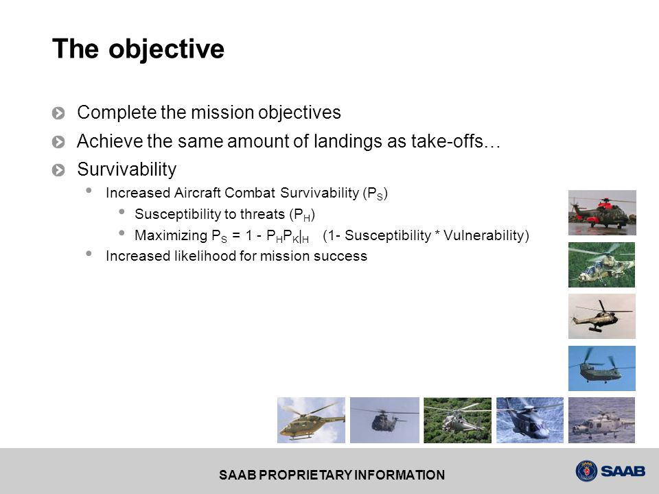 The objective Complete the mission objectives