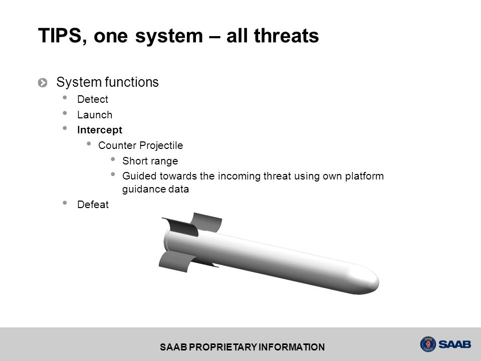 TIPS, one system – all threats