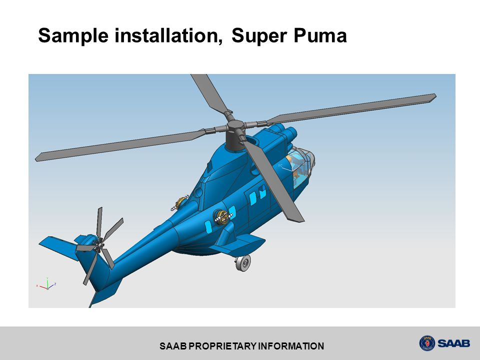 Sample installation, Super Puma