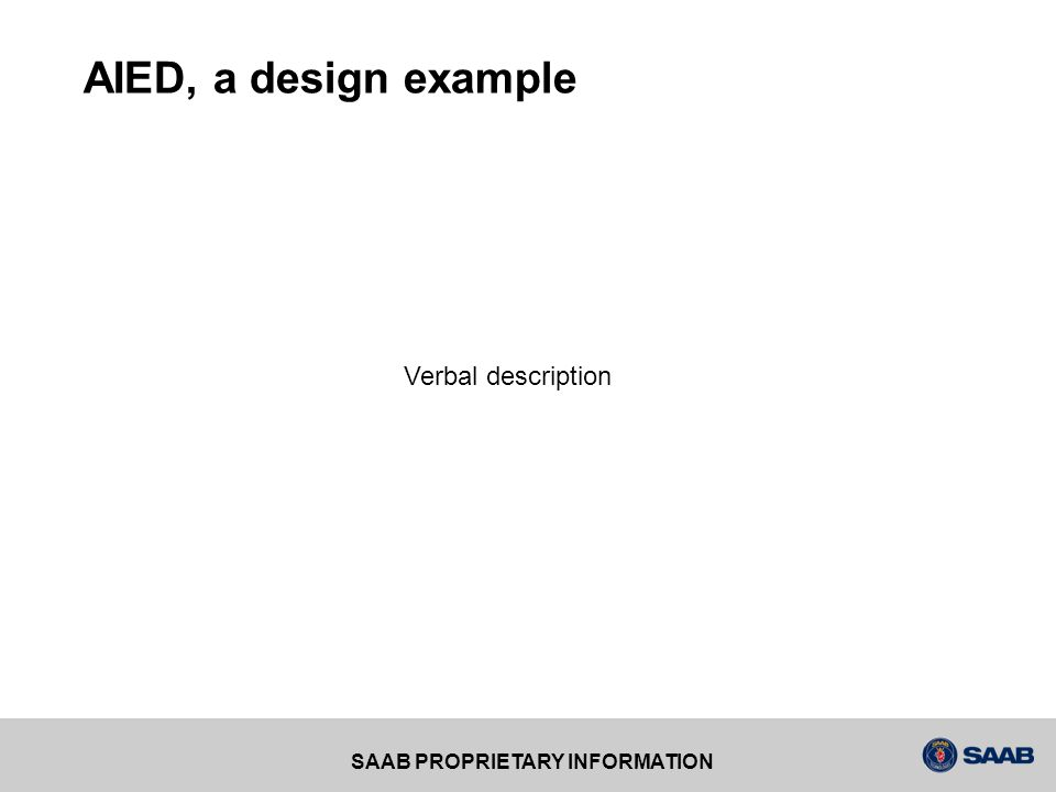 AIED, a design example Verbal description