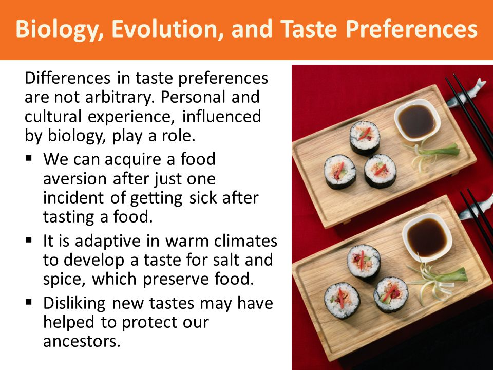 Biology, Evolution, and Taste Preferences