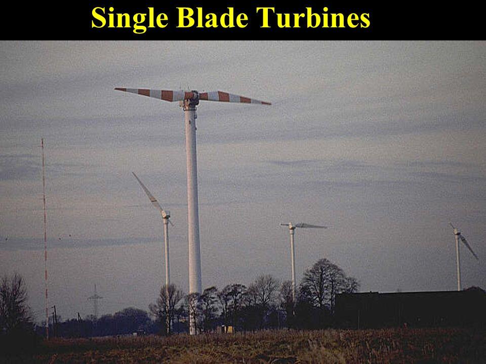 Single Blade Turbines