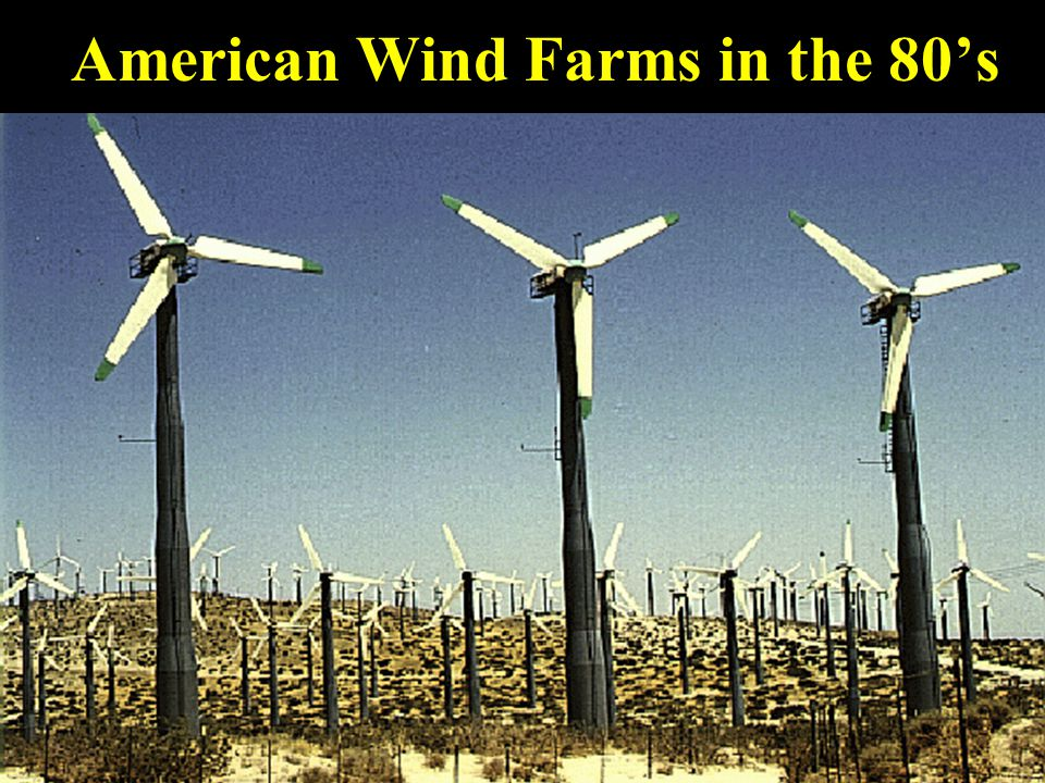 American Wind Farms in the 80's
