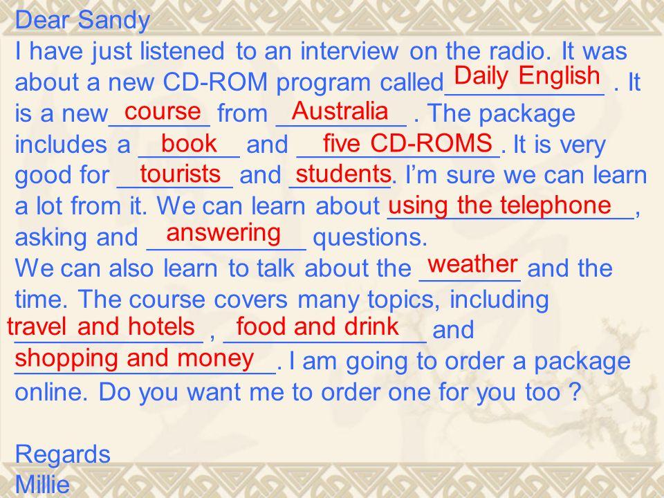 Dear Sandy