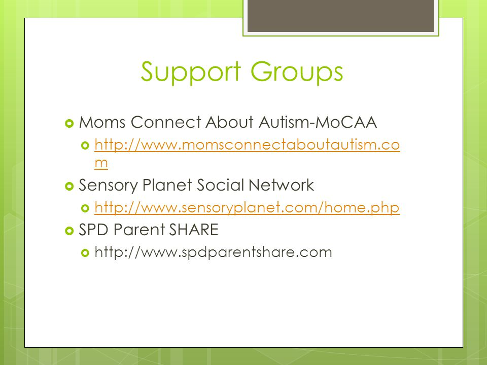 Support Groups Moms Connect About Autism-MoCAA