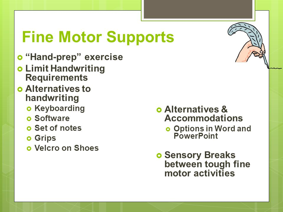 Fine Motor Supports Hand-prep exercise