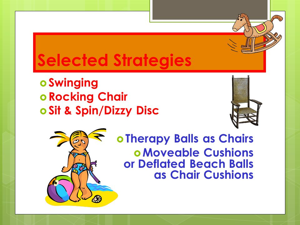 Selected Strategies Swinging Rocking Chair Sit & Spin/Dizzy Disc
