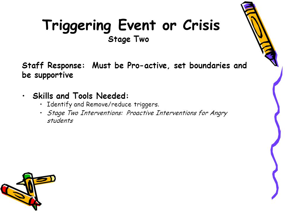 Triggering Event or Crisis Stage Two