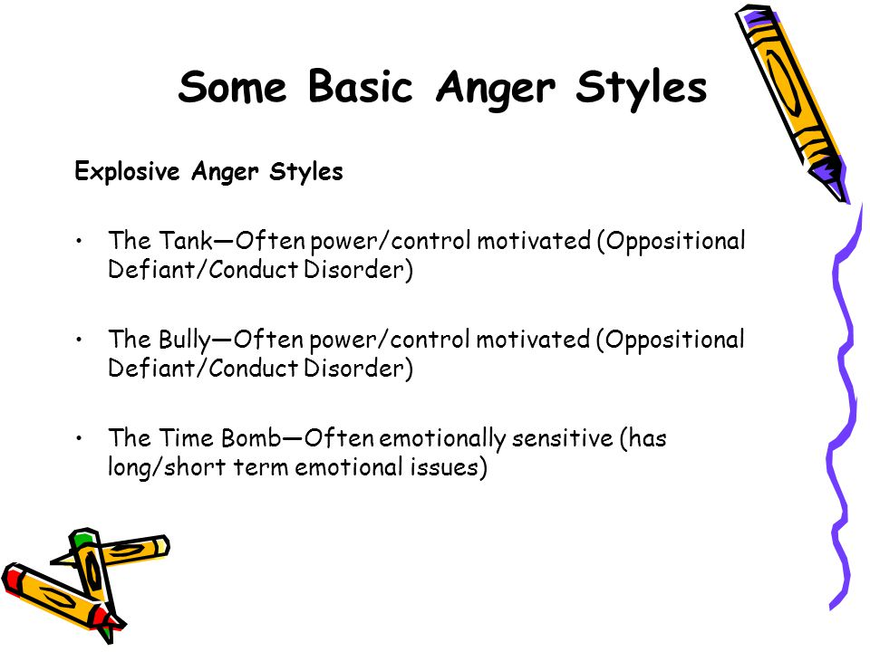 Some Basic Anger Styles
