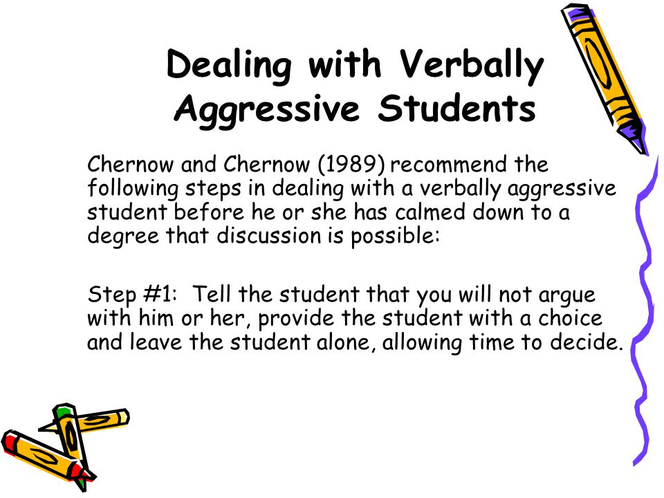 Dealing with Verbally Aggressive Students