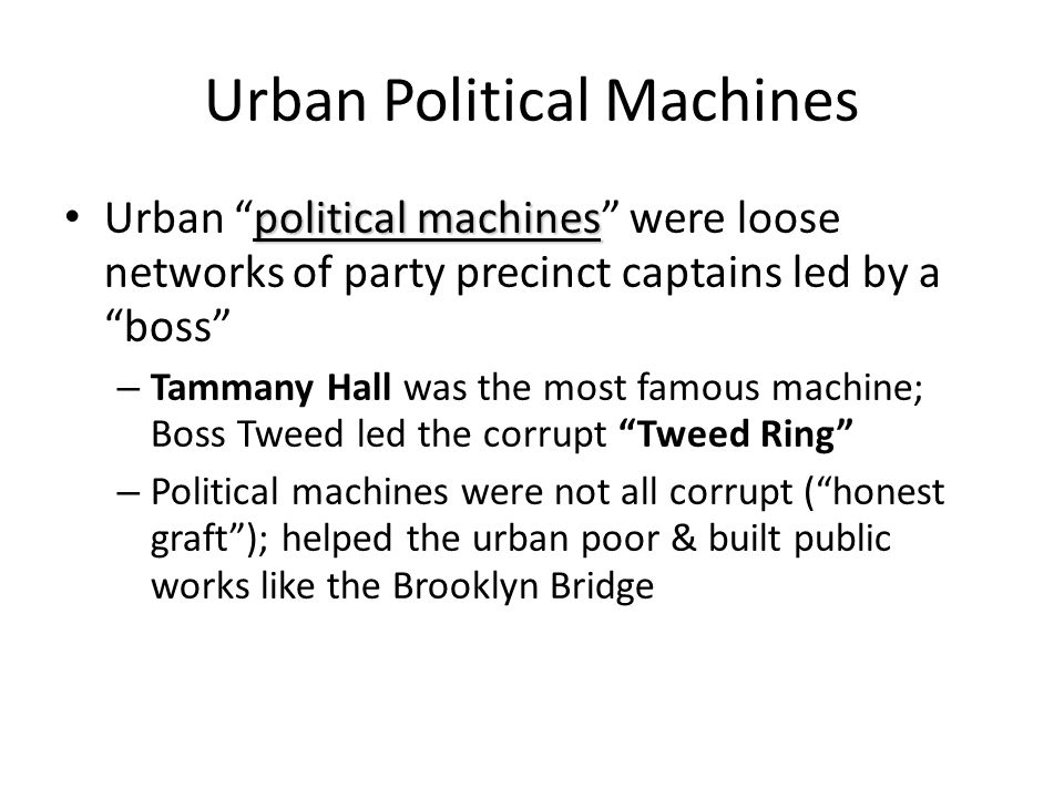 Urban Political Machines
