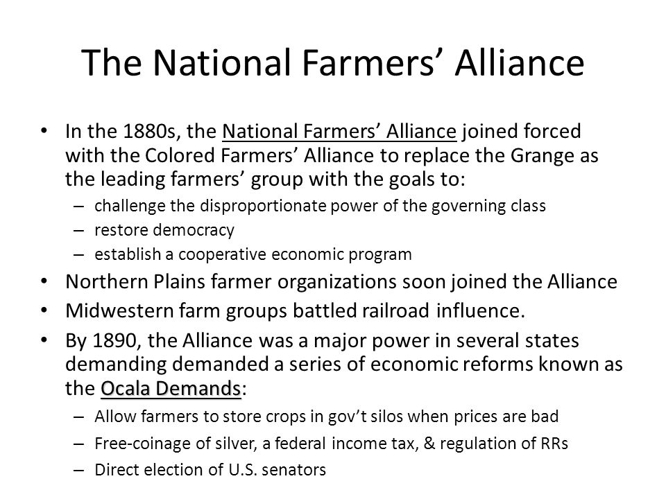 The National Farmers' Alliance
