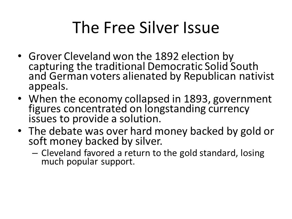 The Free Silver Issue