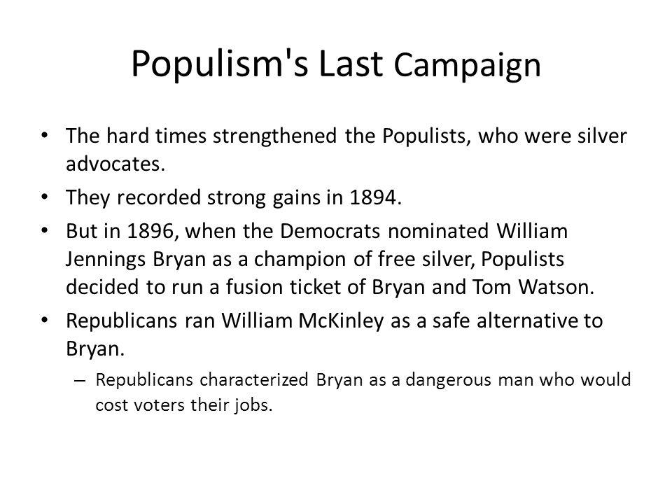Populism s Last Campaign