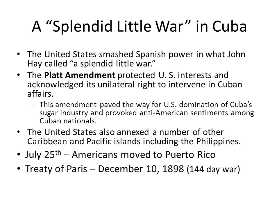 A Splendid Little War in Cuba