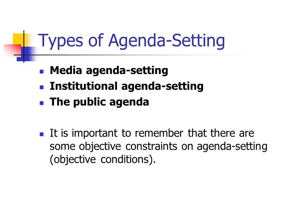 Types of Agenda-Setting