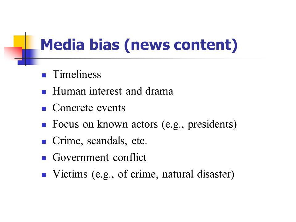 Media bias (news content)