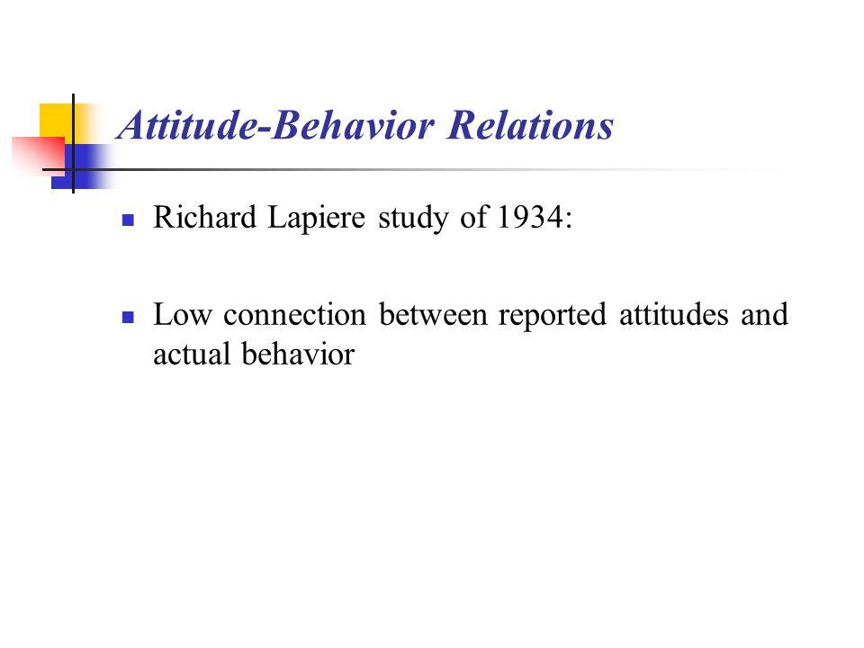 Attitude-Behavior Relations