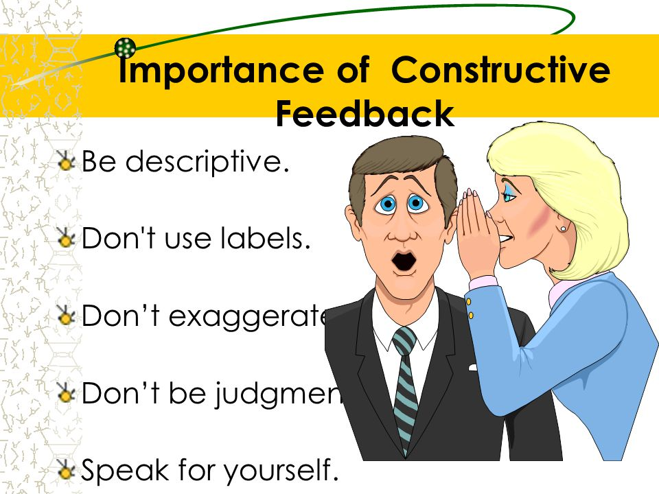Importance of Constructive Feedback