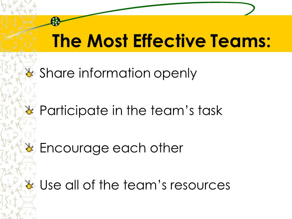 The Most Effective Teams: