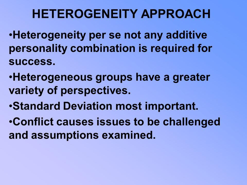 HETEROGENEITY APPROACH