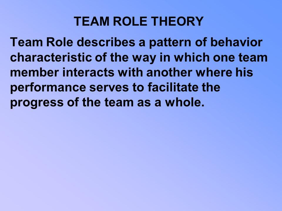 TEAM ROLE THEORY
