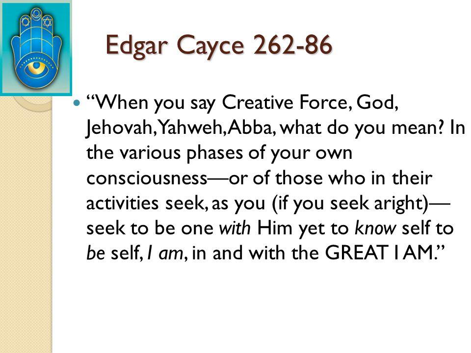 Edgar Cayce 262-86
