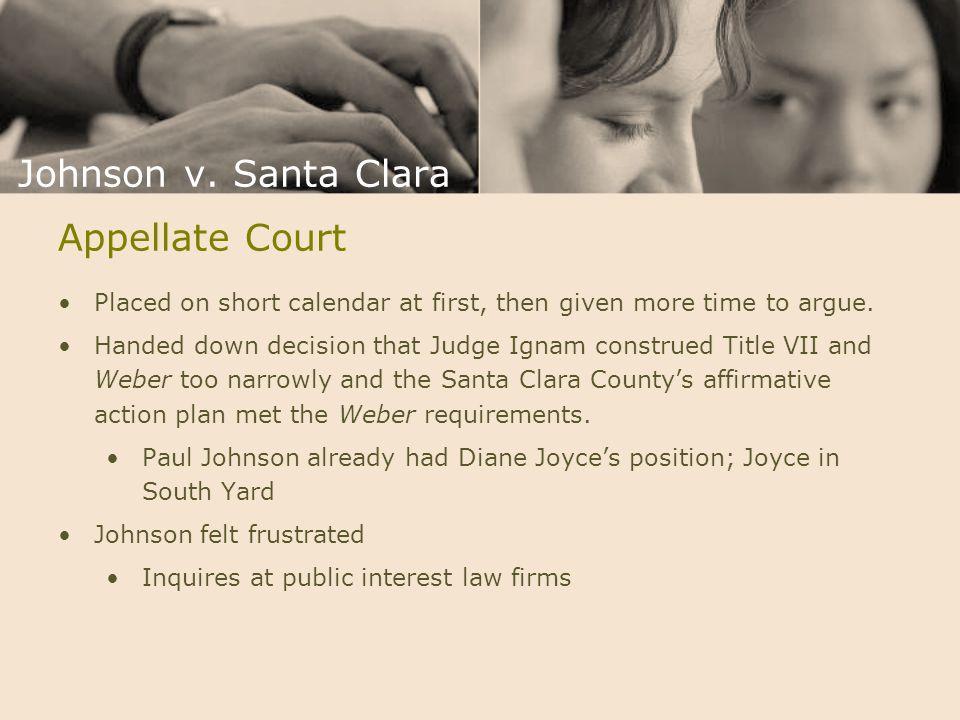 Johnson v. Santa Clara Appellate Court