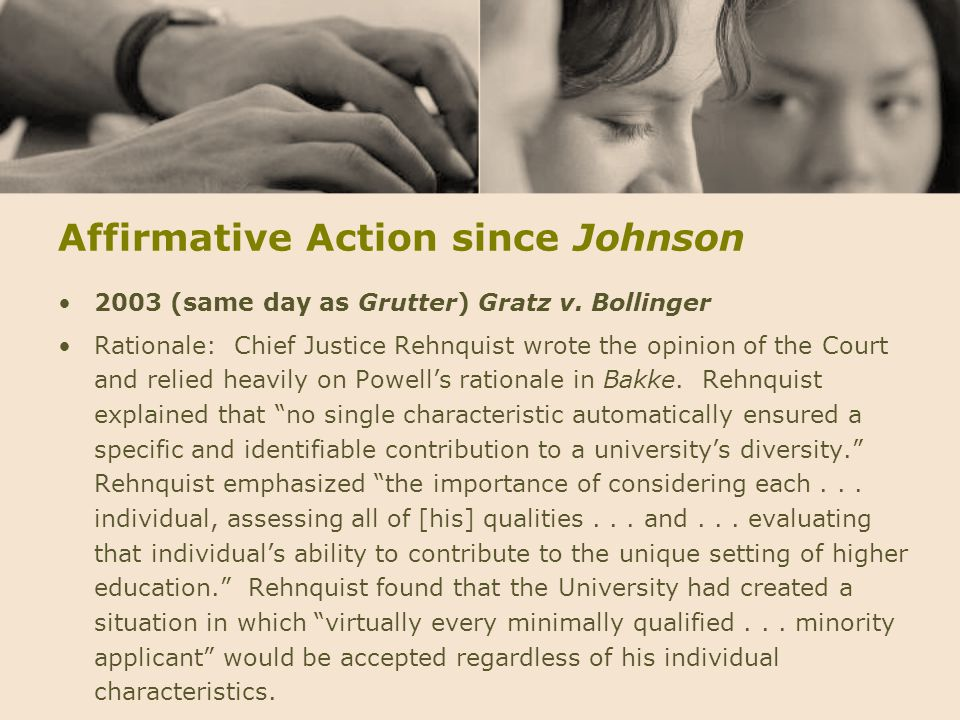Affirmative Action since Johnson
