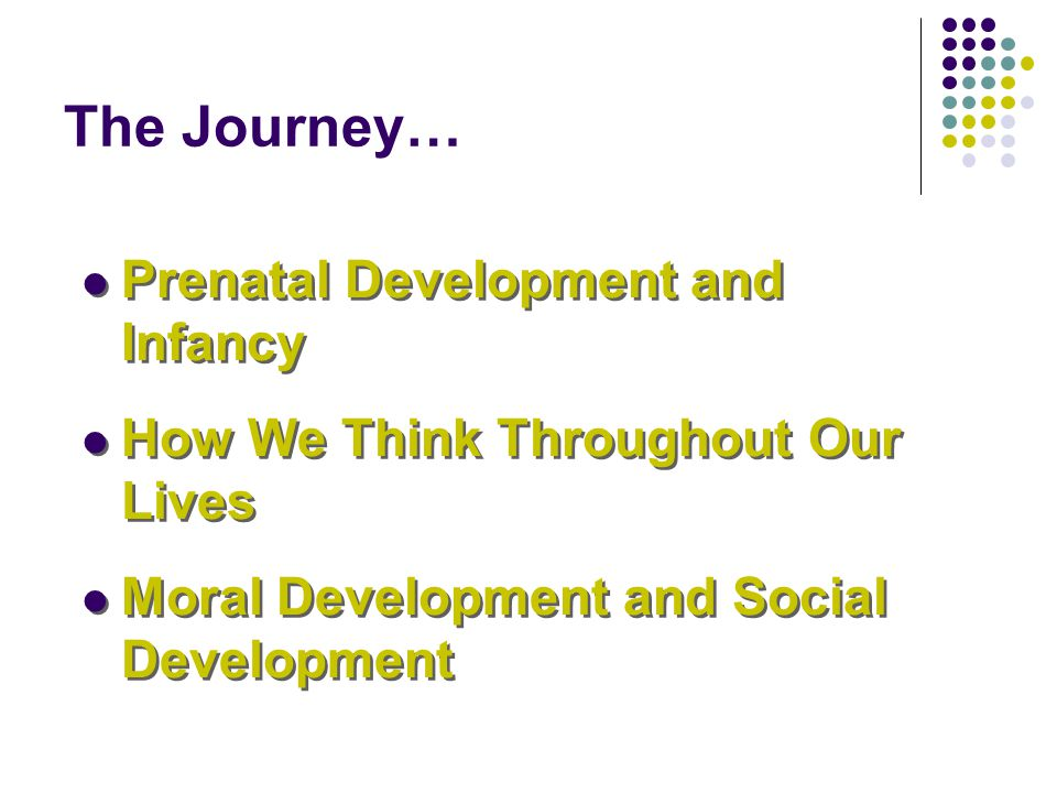 The Journey… Prenatal Development and Infancy