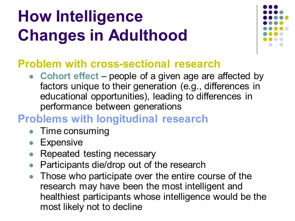 How Intelligence Changes in Adulthood