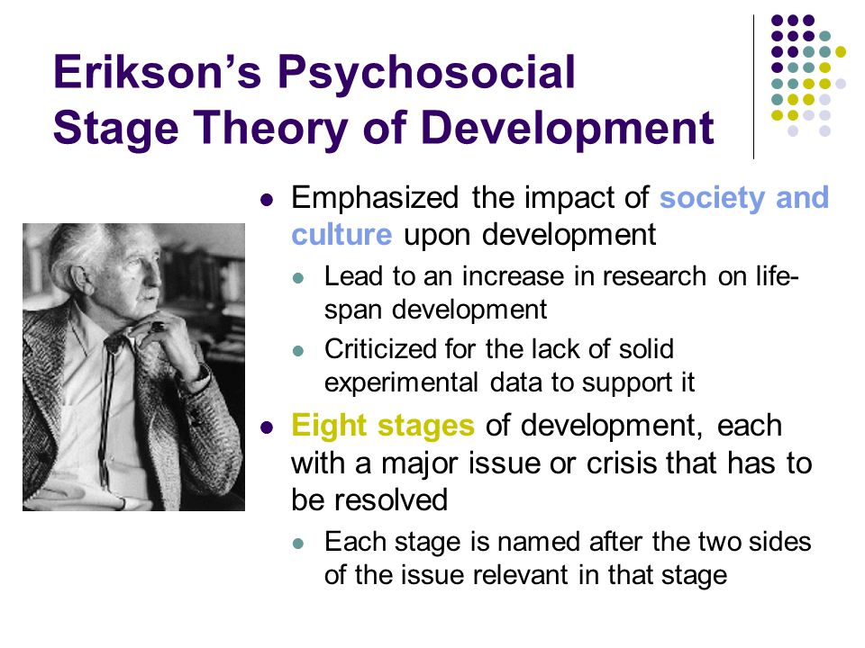Erikson's Psychosocial Stage Theory of Development