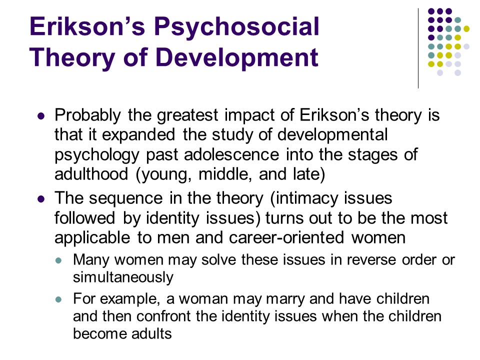 Erikson's Psychosocial Theory of Development