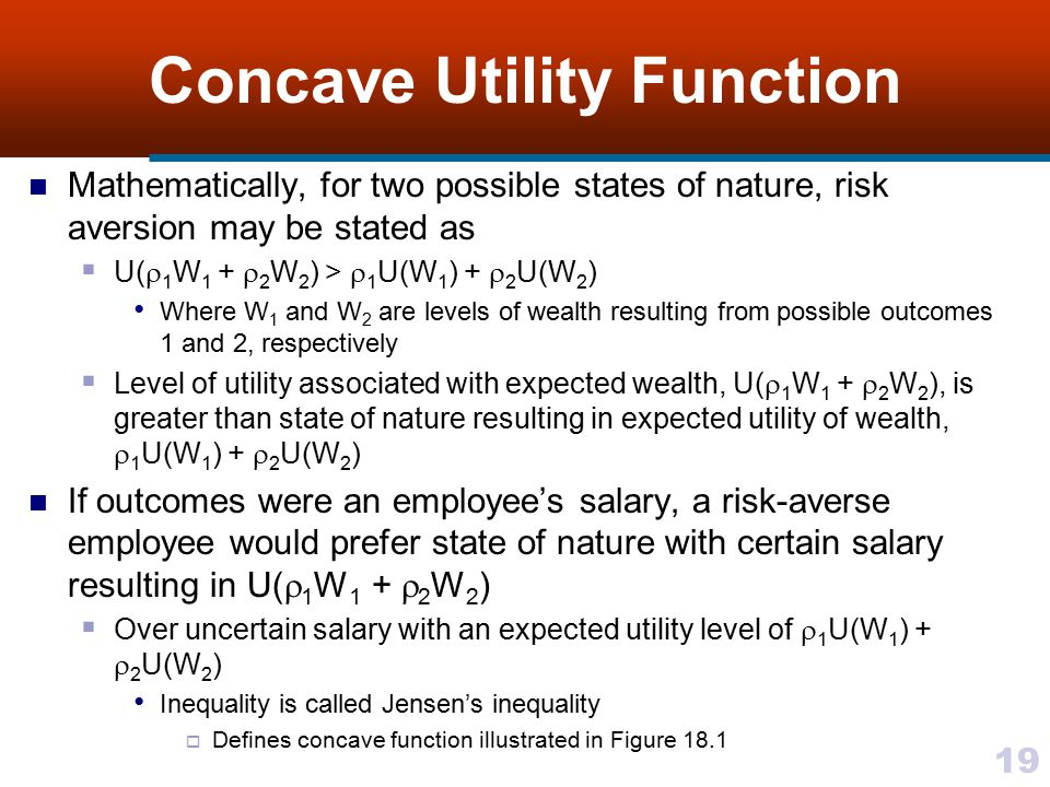 Concave Utility Function