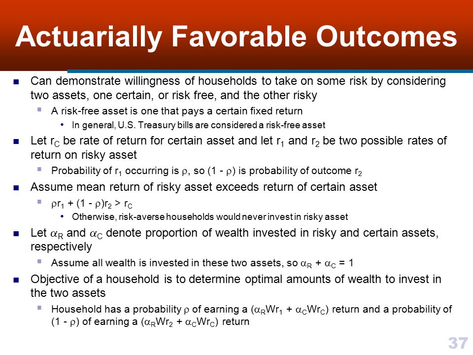 Actuarially Favorable Outcomes