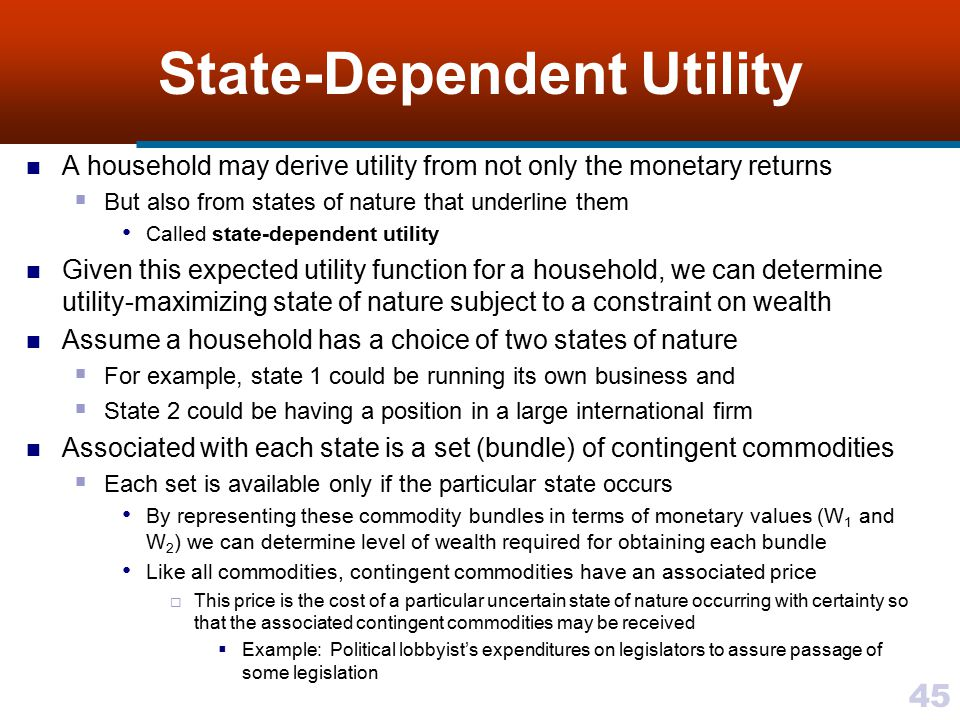 State-Dependent Utility