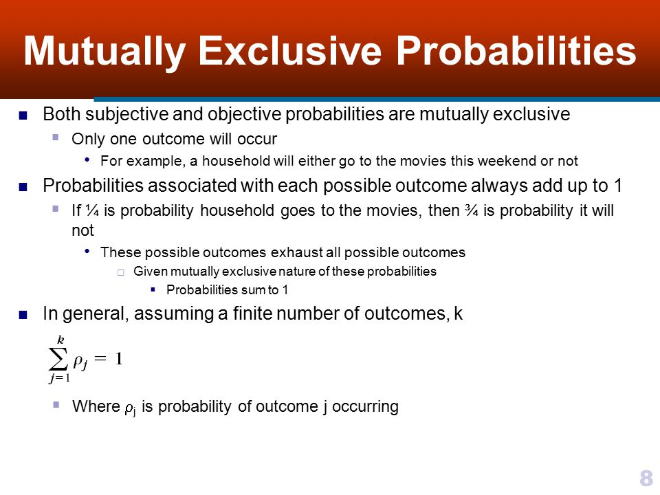 Mutually Exclusive Probabilities