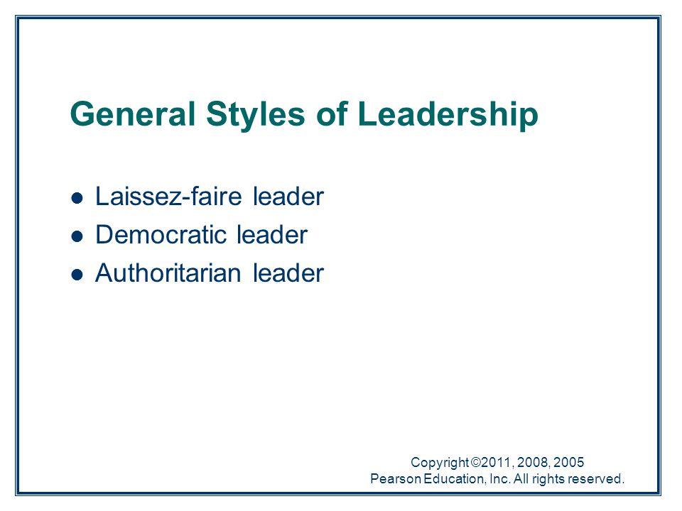 General Styles of Leadership