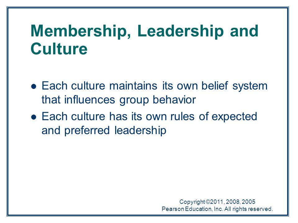 Membership, Leadership and Culture