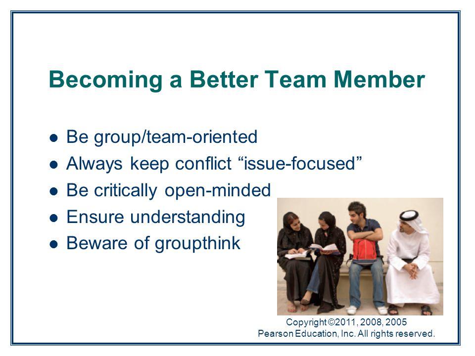 Becoming a Better Team Member