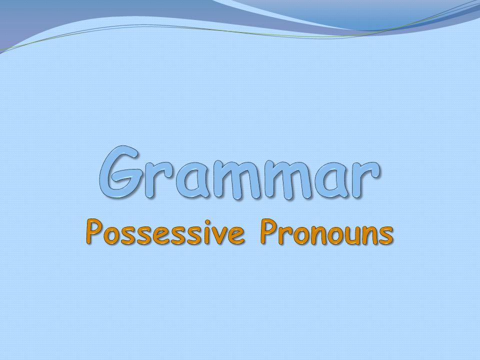 Grammar Possessive Pronouns