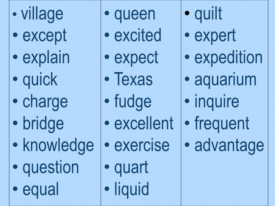 except explain quick charge bridge knowledge question equal queen