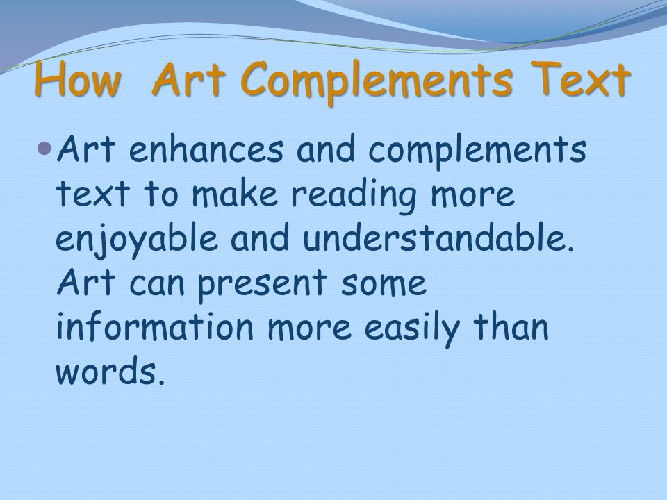 How Art Complements Text