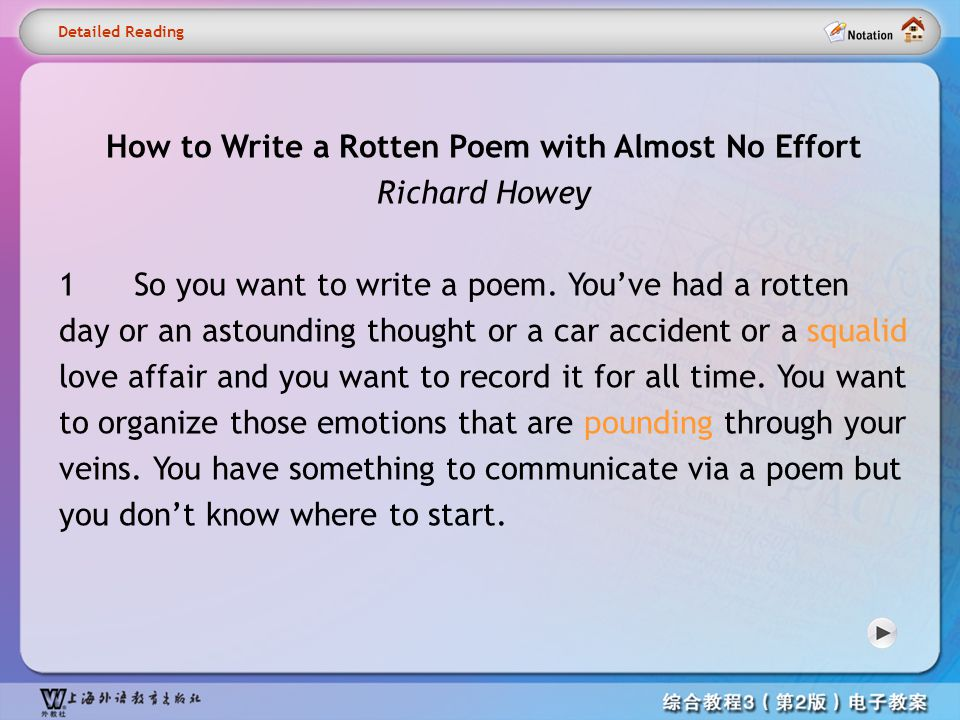 How to Write a Rotten Poem with Almost No Effort