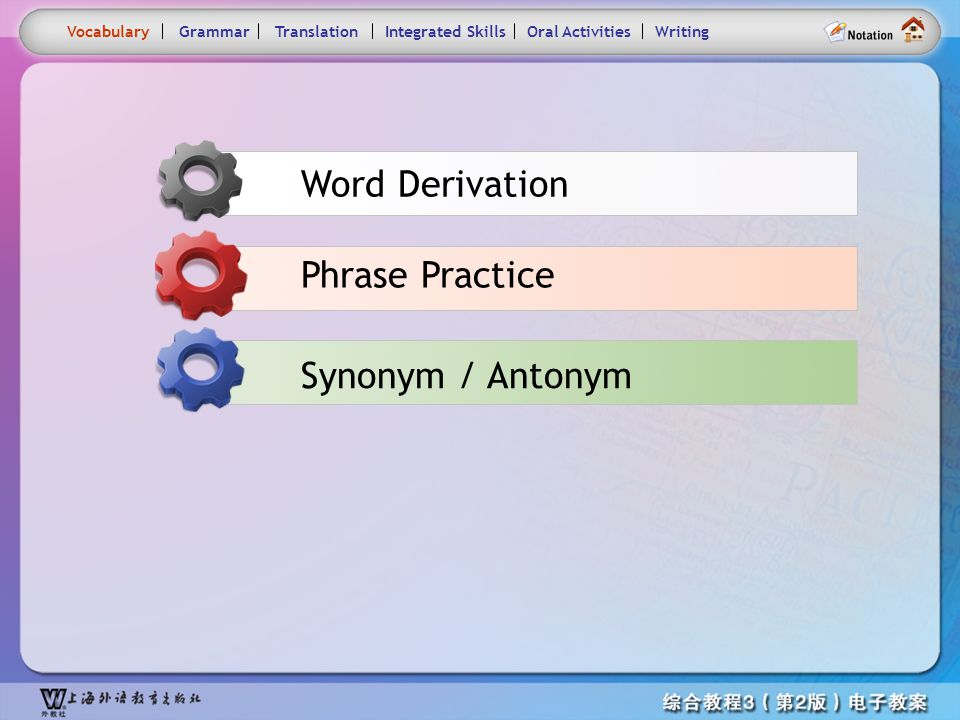 Consolidation Activities- Vocabulary main