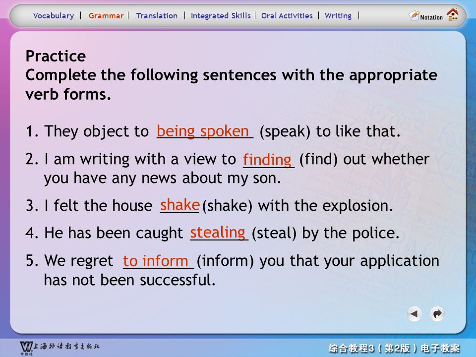 Consolidation Activities- Grammar1.2