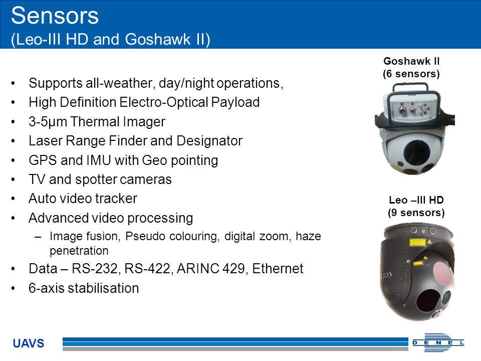 Sensors (Leo-III HD and Goshawk II)