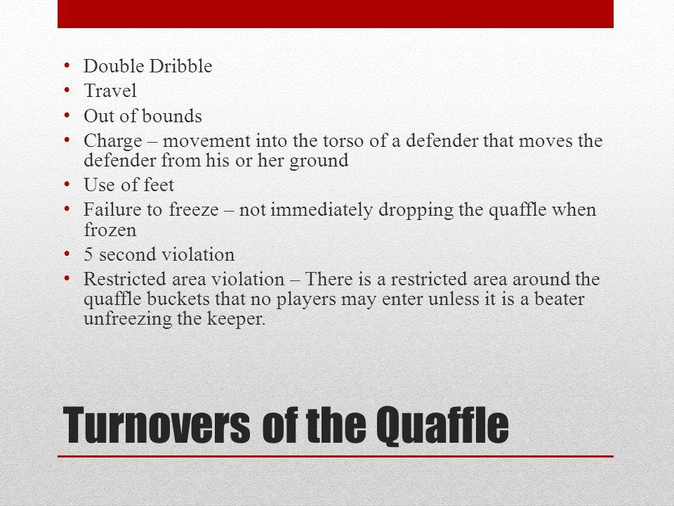 Turnovers of the Quaffle